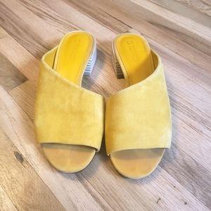 Mercedes Castillo Yellow Irine Asymmetrical Sandal